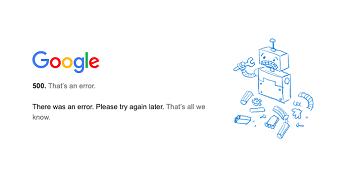 Down dei servizi Google e falsi Bounce Up